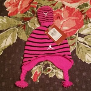 Nwt Nike (Jordan/jumpman) baby girl hat set